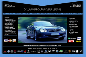 Valencia Coachworks Website