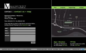 Main Street Architects + Planners Contact