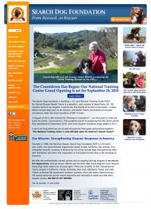 Search Dog Foundation Home Page
